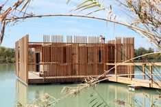Hotel-Cabin Surrounded by a Quiet Lake and the Surrounding Vineyards