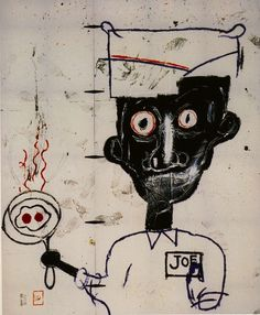 Basquiat, Eyes and Eggs, 1983