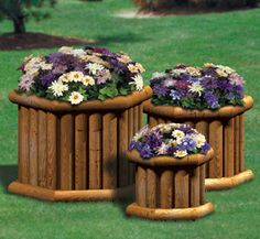 Landscape Timber Planter Trio Wood Plan