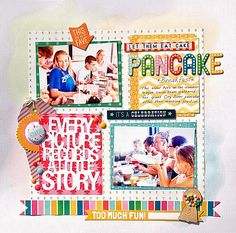 Let Them Eat Cake...Pancake! | Scraptastic Club  Love the enamel dots on the gumball machine veneer!