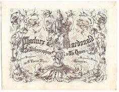 Maclure & Macdonald large advertising card lithographers Glasgow Scotland