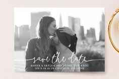 """Boho Love"" - Full-Bleed Photo, Modern Save The Date Postcards in Lily by Christine Taylor."