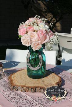 Love this mason jar idea! :: Anne's Western Chic Birthday | CatchMyParty.com