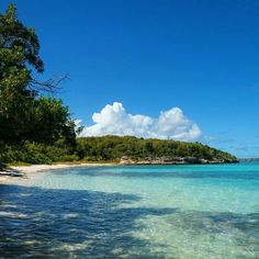 How many shades of turquoise blue do you count? Private #beach on @antiguaandbarbuda. #dreamantigua