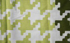 Vintage piece of cotton fabric, wall art 80s 90s modernist mid century