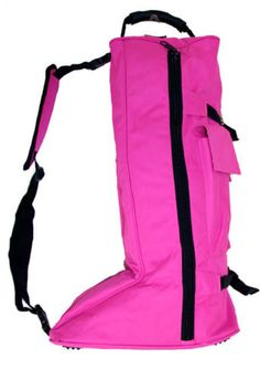 English-Long-Boot-Travel-Bag-600D-Canvas-Heavy-Duty-English-Tack-Hot-Pink