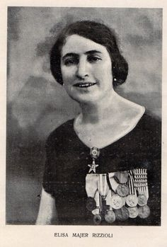 Sister Elisa Majer Rizzioli (1880-1930). Italian nurse highly decorated during the First World War.