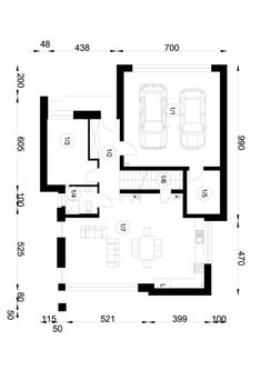 DOM.PL™ - Projekt domu NA A-94 CE - DOM NA1-52 - gotowy koszt budowy My Dream Home, Floor Plans, Dream Houses, Horticulture, Architecture, Houses, Arquitetura, My Dream House, Garden Planning