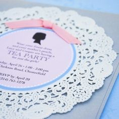 The Sunday Event: Just Darling Doilies - Invitations from BeyondDesign on Etsy