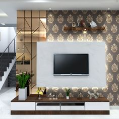 Here's how to decorate a TV wall with some tips and tricks that can be applied quite easily. #T.V unit #LIVING ROOM #LAMINATE #WALLPAPER #DREAMY INTERIOR Modern Luxury Bedroom, Luxurious Bedrooms, Lcd Units, Living Room Tv Unit Designs, Indian Home Interior, 3d Panels, Office Furniture Design, The Unit, Living Area