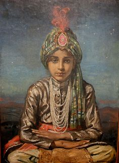 The Young Prince George Owen Wynne Apperley – English) Tremendous sense of 'otherness about this lad, and it is not just the clothes. Princesa Indiana, Kerala Mural Painting, Half Sleeve Tattoos Designs, Young Prince, High Art, Art For Art Sake, Orient, Vintage Artwork, Illustrators