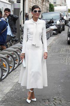 #BatGio On the street at the Paris couture shows. Photo: Emily Malan/Fashionista.