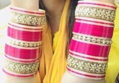 Chura Bridal Bangles, Bridal Jewelry, Bridal Chuda, Punjabi Bride, Bangle Bracelets, Jewellery, How To Wear, Fashion, Bracelets