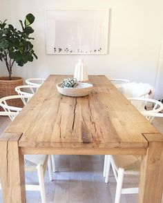 Dining Room Table Decoration Ideas - Home Ideaz Dining Room Table Decor, Dining Room Design, Kitchen Upgrades, Sweet Home, Decoration, Furniture, Home Decor, Farmhouse Style, Modern Farmhouse Table