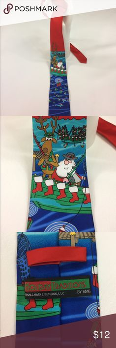 Holiday Traditions Men's Christmas Fishing Tie Please see photos Accessories Ties