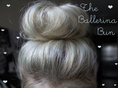 The Ballerina Bun video tutorial without having to use a hair donut or sock. BlondieInTheCity.com