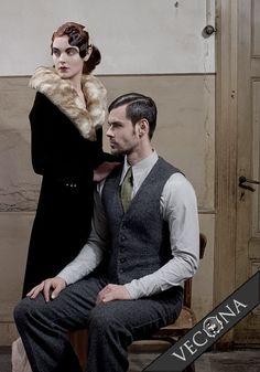 wool tweed vest and pants @ vecona.de