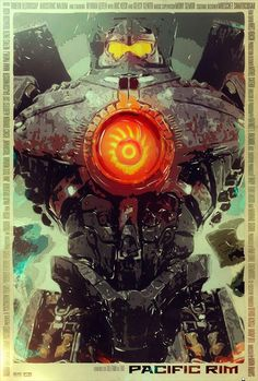 Cool Art: 'Pacific Rim' by Tomasz Opasinski Movie Poster Art, Poster S, Pacific Rim Jaeger, Gipsy Danger, Alternative Movie Posters, Chef D Oeuvre, Geek Art, Cool Posters, Illustrations