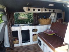 Vw t4 camper conversion , MDF board and wall paper .