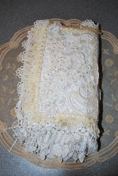 My first fabric lace book - back