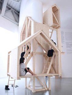 Закрытый минималистский каморка дом |  10 Поразительно Удивительный Cubby Дома Часть 2 - TinyMe Блог