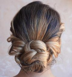 Braided Bun With Twisted Sides