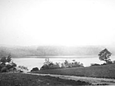 Myosotis lake showing spillway, photo from Rensselaerville Historical Society