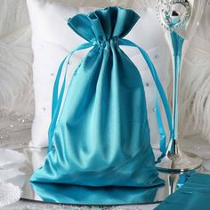 These cheerful satin favor bags are perfect for holding little goodies and favors for your guests! WHAT YOU GET:Each order is for 12 favor bags. Each favor bag measures x Due to location of pull strings fillable size is x Wedding Favours Navy Blue, Wedding Favor Bags, Party Favor Bags, Gift Bags, Lilac Wedding, Rhinestone Wedding, Favor Boxes, Elegant Wedding, Wedding Reception