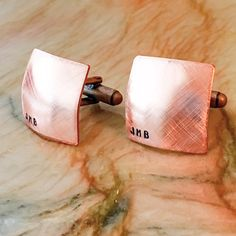 I carry many options-- ✔Round or Square, ✔Flat or Domed, and ✔THREE different metals: Silver Tone Aluminum, Brass Gold Tone, and Copper (all are solid metals). These cuff links measure 3/4 at the surface. Great to remember the date of your wedding, first date, special word, names, just about anything! The price for this listing is for ONE pair of Cuff links. ♥ ♥ ♥ ♥ ♥ ♥ ♥ ♥ ♥ ♥ ♥ ♥ ♥ ♥ ♥ ♥ ♥ ♥ ♥ ♥ ♥ ♥ ♥ ♥ ♥ ♥ ♥ ♥ ♥ ♥ ♥ ♥ ♥ ♥ ♥ ♥ ♥ ♥ ♥ ♥ ♥ ♥ ♥ ♥ ♥  *****Upon purchase in Notes Section at c...
