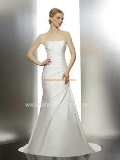 Moonlight Schlichte Günstige Moderne Brautkleider aus Taft mit Schleppe