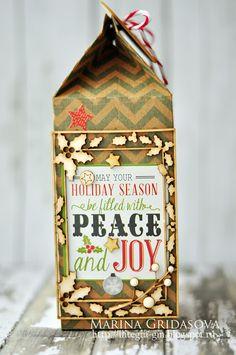 holiday box | I-Kropka DT @akonitt #bag #holidaybag #christmasgiftbag #giftbag #by_marina_gridasova #mme #ikropka #chipboard #echopark #holidaygiftbag