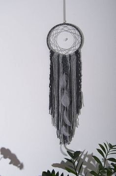 Gray Dream catcher Wall Hanging Living Room Decorations Wool
