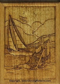 Free wood carving, pyrography, and craft step by step projects and line art patterns by Lora S. Irish, author of Relief Carving Workshop.