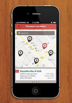 Otra forma de presentar el mapa dentro de la app #UI Design| http://make-up-guide-videos-701.blogspot.com