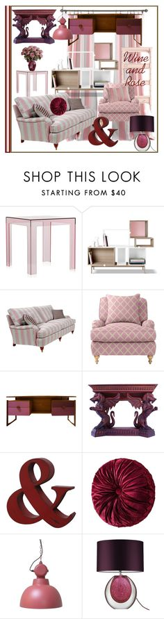 """Wine and Rose"" by bloodshyft ❤ liked on Polyvore featuring interior, interiors, interior design, home, home decor, interior decorating, Stanley Furniture, Kartell, Muuto and Duresta"
