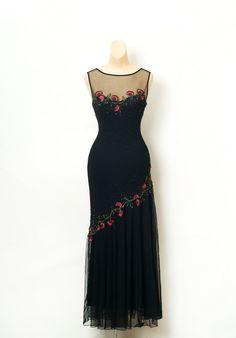 Vintage 80s dress/ 90s dress / beaded dress / Black dress / Cocktail / Art deco dress / Women's Dresses / 1920's Dress. Hand Embroidered by VintageBoxFashions on Etsy