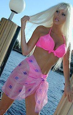 Beach Attire, Retro Print, Swimsuits, Bikinis, Swimwear Fashion, Put On, Cover Up, Sarongs, Saree