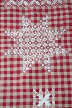 estre natal bordado xadrez by rosalind