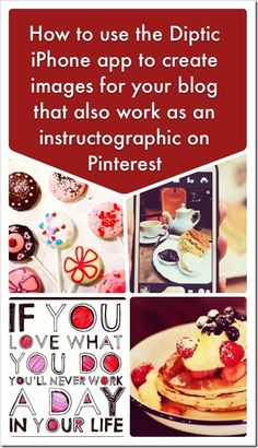 How to use Diptic app to create instructogrphics for Pinterest and your blog posts for your visual content marketing plan