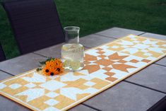 Sunday Sunrise Table Runner in McCall's Quilting Magazine | Gen X Quilters | Bloglovin'