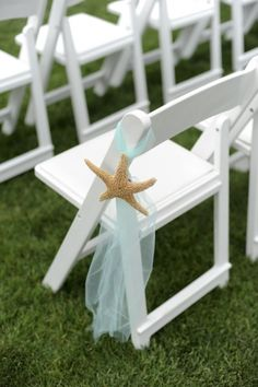 Chair decor via Bayside Bride