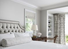 Regency S.N. Arm Chair from Ebanista in a bedroom designed by Marianne Simon - LuxeSource | Luxe Interiors + Design Magazine