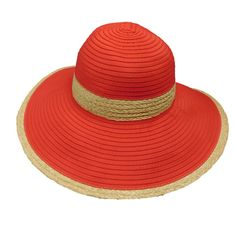 Ribbon Sun Hat with Raffia Trim by Boardwalk