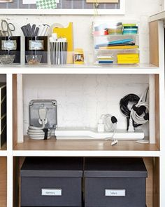 Before and After: A Transformed Desk Area - Martha Stewart Organizing