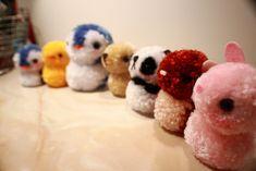 cute pom pom animals