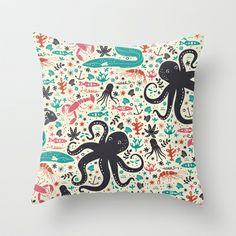 Sea Patrol Throw Pillow by Anna Deegan