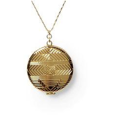 House of Harlow 1960 Medallion Locket Pendant ❤ liked on Polyvore