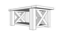 DIY Chunky Farmhouse Coffee Table - DIY Woodworking Plans