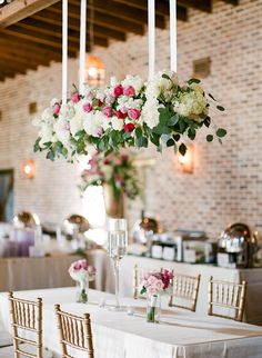 hanging floral wedding decor - Ashley Upchurch Photography Floral Wedding Decorations, Table Decorations, Photography, Furniture, Home Decor, Photograph, Photography Business, Photoshoot, Fotografie