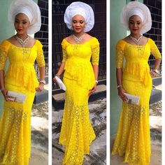 Creative Yellow Lace Skirt and Blouse Design -http://www.dezangozone.com/2015/10/creative-yellow-lace-skirt-and-blouse.html DeZango Fashion Zone